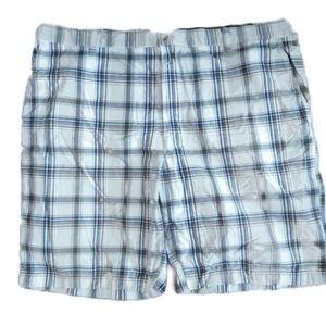 Vanheusen studio | Blue, cream, brown plaid shorts